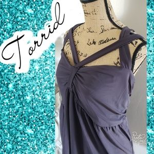 Criss cross tank summer top shirt 4x torrid